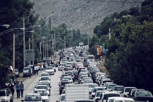 مهگرفتگی کندوان و وضعیت ترافیک در محور هراز