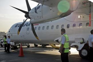 گزارش تصویری/ تصاویر دیدنی از نخستین پرواز هواپیمای ATR72 هما به سنندج
