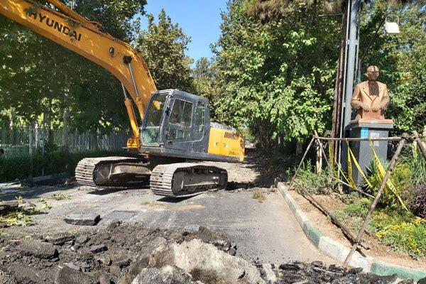 پیشرفت ۶۶ درصدی احداث زیرگذر چهارراه گلوبندک به مترو پانزده خرداد