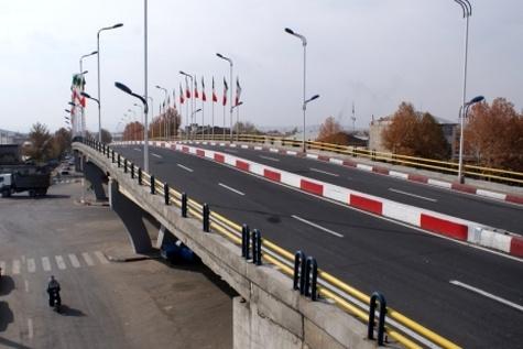 افتتاح تقاطع غیرهمسطح کوسه هجیج در سنندج